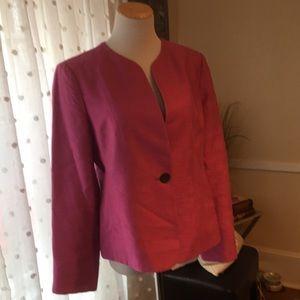 Jones NY Collection Fuschia Blazer Size 10